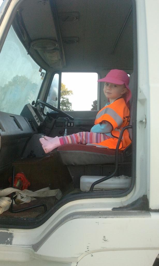 Shannon in truck 2