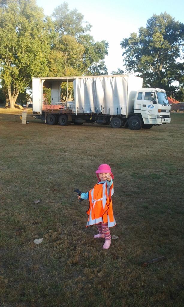 Shannon in truck 3
